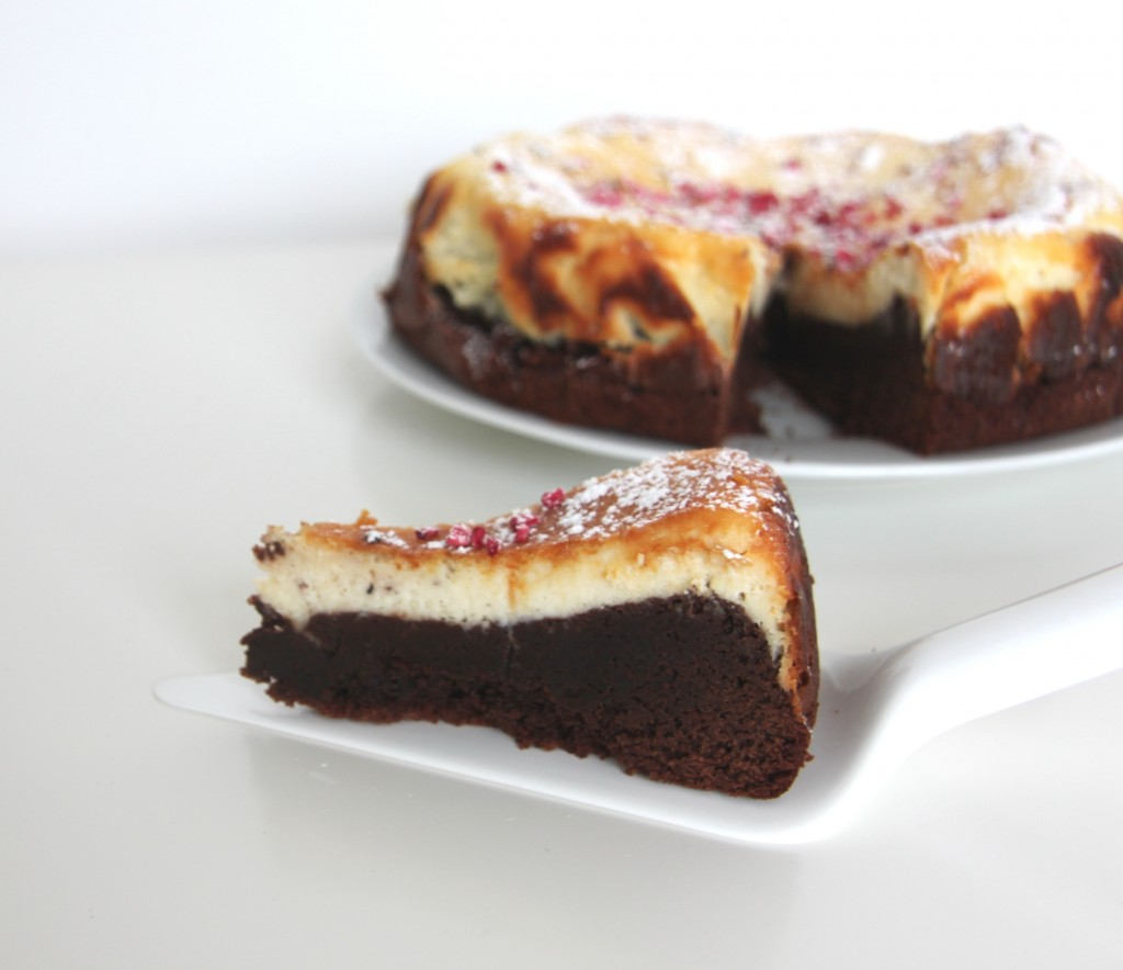 Creamcheese-brownie kage