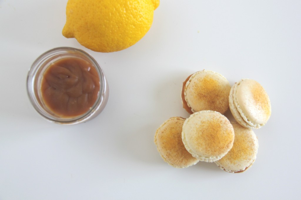 Macarons med citronkaramel