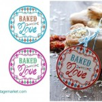Cupcake topper - baked with love