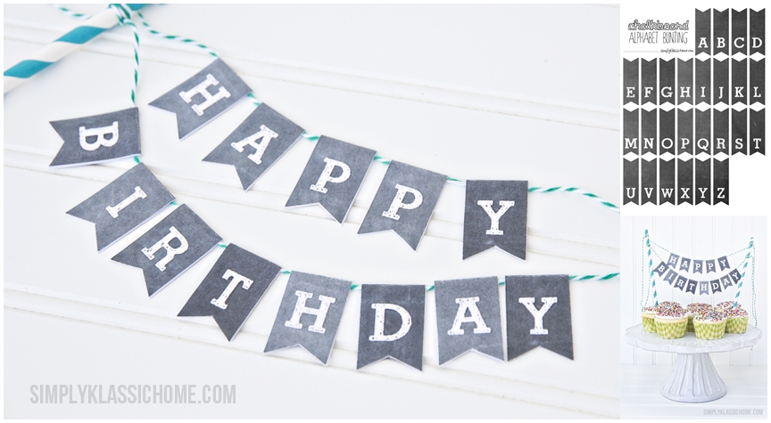 Happy Birthday Chalkboard Bunting