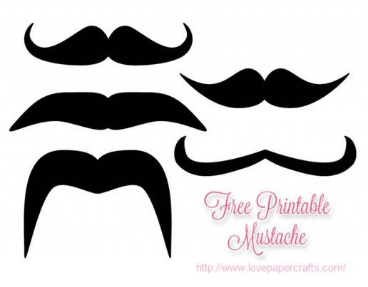 Moustache cupcake pynt_lovepapercrafts